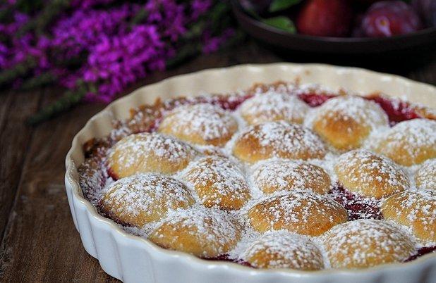 Švestkový koláč s marcipánem Foto: