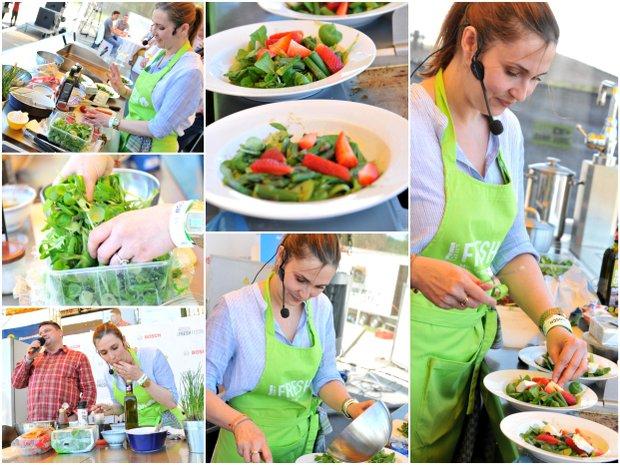 Premiérová příprava salátu na Bosch Fresh Festivalu v Brně 2016 Foto: