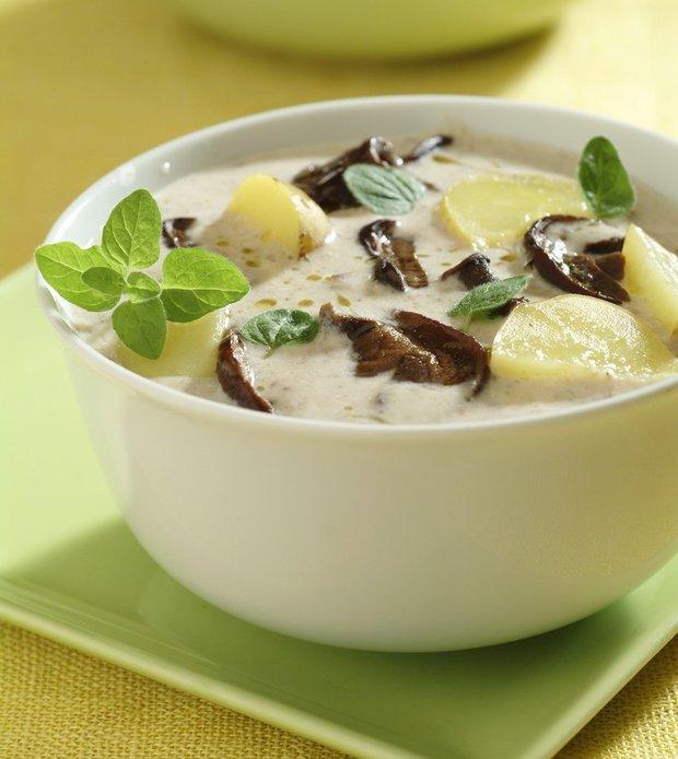 Bílá houbová polévka  Foto: