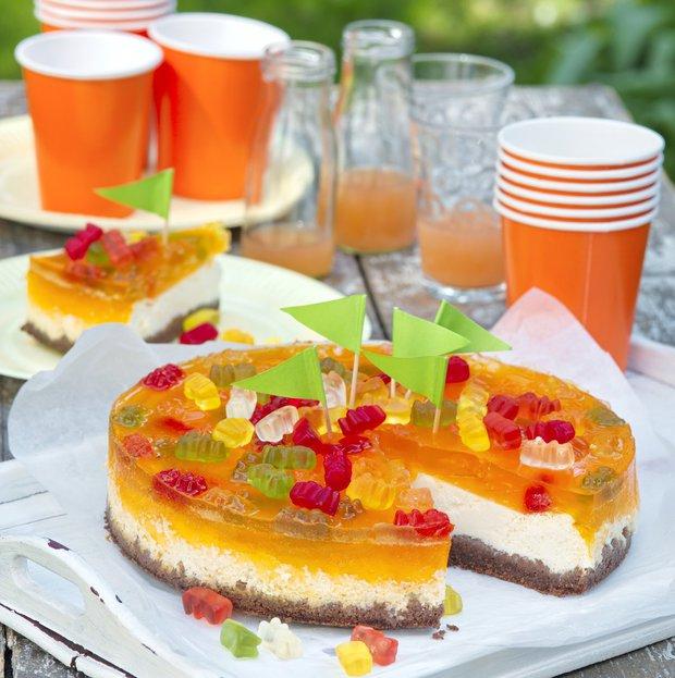 Želé cheesecake s guníndky a/nebo kytičkami  Foto:
