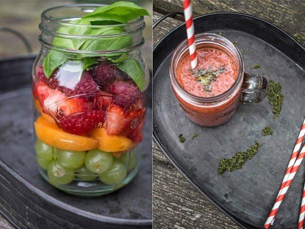 Letní smoothie s bazalkovým cukrem  Foto: