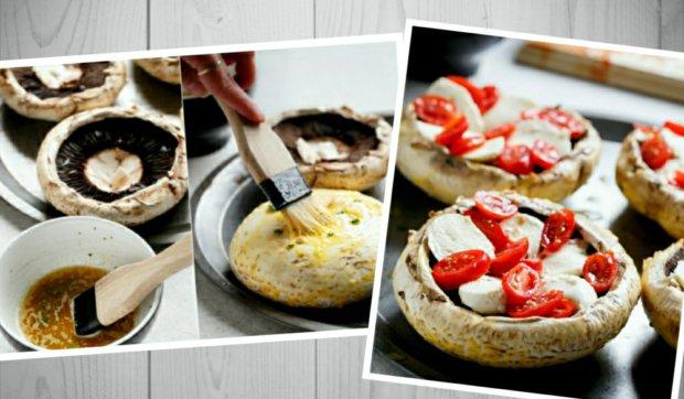 Plněné portobello houby ve stylu caprese 2 Foto: