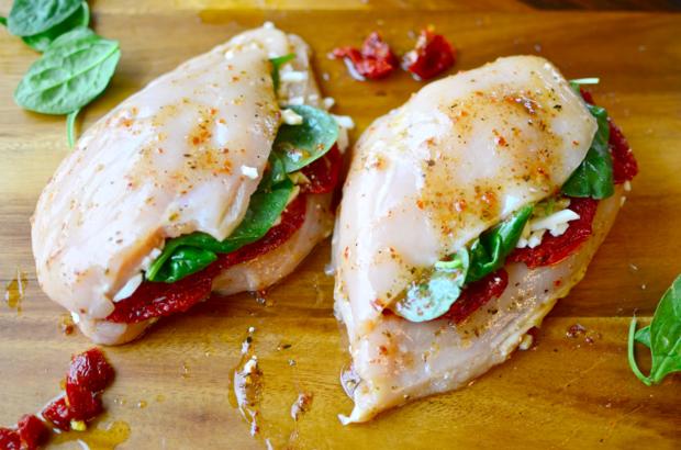Kuře plněné rajčaty a špenátem 2 Foto:
