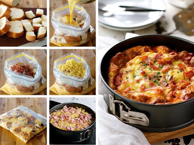 Snídaňová nádivka se slaninou a sýrem 2 Foto: