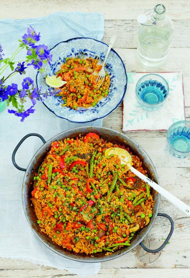 Vegetariánská paella  Foto:
