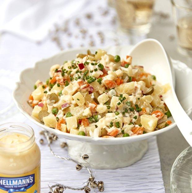 Česko-slovenský tradiční bramborový salát  Foto: