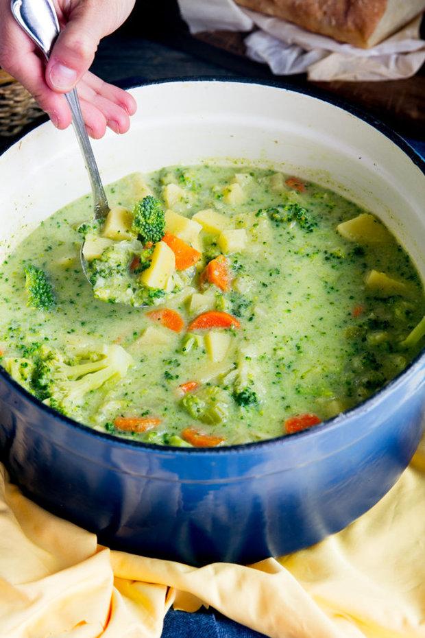 Brokolicová polévka se sýrem 2 Foto:
