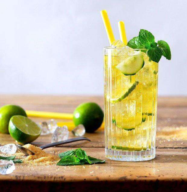 Ledový zelený čaj s okurkou  Foto: