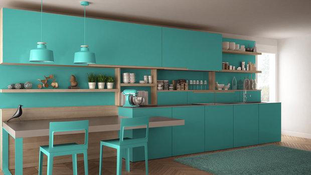Tyrkysovou snese i vaše kuchyň Foto: