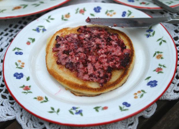 Kefírové lívance s ostružinovým máslem  Foto: Klára Michalová