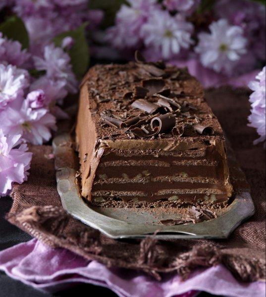 Čokoládový sušenkový chlebíček sořechy