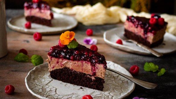 Čokoládový dort s ovocným želé